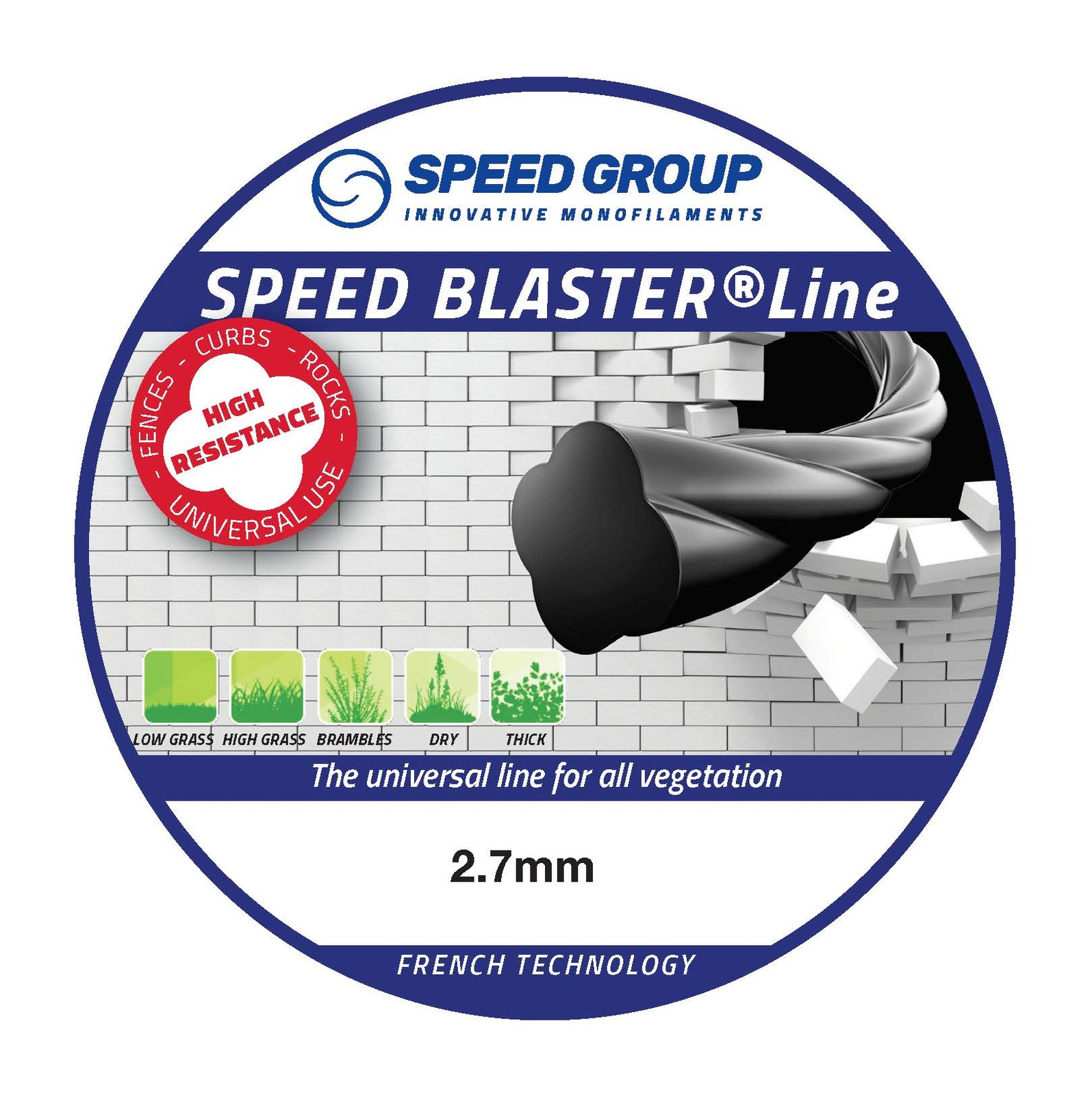 Speed Blaster pre-cut 2.7mm Trimmer Line 300 Pack