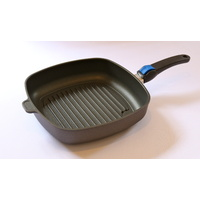 Grill Pan/ BBQ Pan 28 x 28 x 7cm, including oven-safe lid